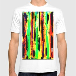 paint pattern 2 (red yellow & orange & green & blue) T-shirt