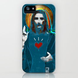 Jesus Christ: Daily Bread - Blue iPhone Case