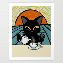 Coffee time Art Print