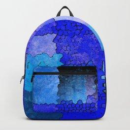 Blue Grunge Backpack