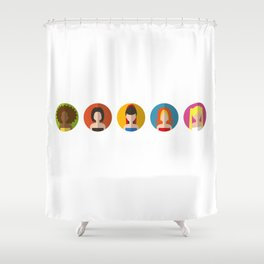 SPICE GIRLS ICONS Shower Curtain
