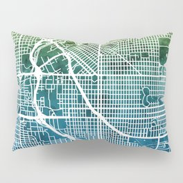 Denver Colorado Street Map Pillow Sham