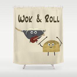 Wok & Roll (with hair) Shower Curtain