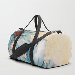Vintage Blue Duffle Bag