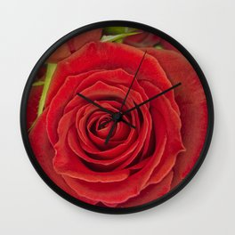 Red Rose for Love Wall Clock