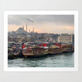 Istanbul Fish Market Art Print