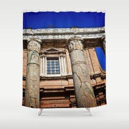 The Temple of Antonius & Faustina Shower Curtain