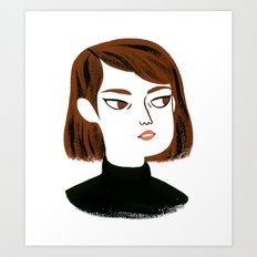 Epic side eye Art Print