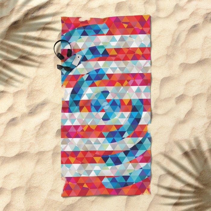 Abstract America Beach Towel