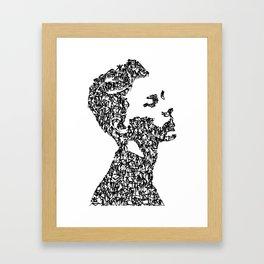 Kanji Calligraphy Art :man's face #4 Framed Art Print