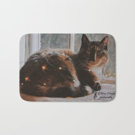 Ella and Christmas Lights Bath Mat