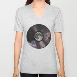 L.P. (Lunar Phonograph) Unisex V-Neck