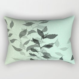 First Snowfall #snow #botanical Rectangular Pillow