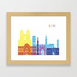 Sucre skyline pop Framed Art Print