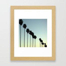 PROSPECTIVE PALMS Framed Art Print