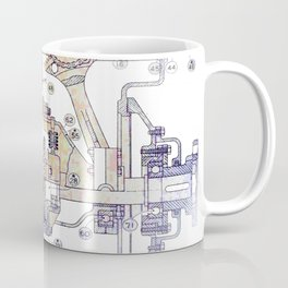 Mechanical Diagram Coffee Mug