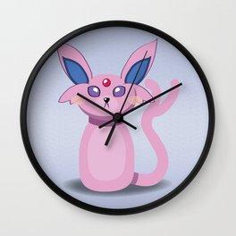 Evolution Bobbles - Espeon Wall Clock