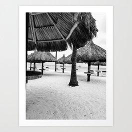 Beach Cabanas Art Print