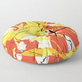 Fall Tree Bark Marble Floor Pillow