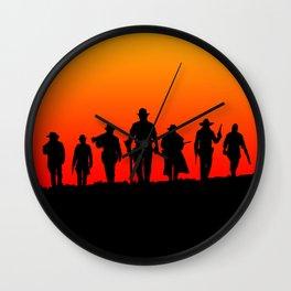 Western Sunset Wall Clock