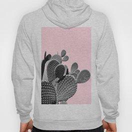 Bunny Ears Cactus on Pastel Pink #cactuslove #tropicalart Hoody