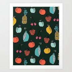 Tutti Fruit Pattern by Andrea Lauren Art Print