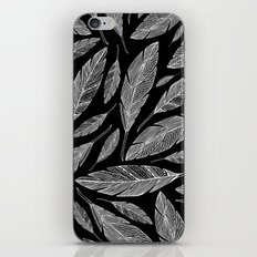 Float Like A Feather - Black iPhone Skin