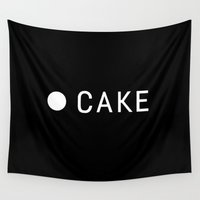 cake Wall Tapestries featuring Cake  by cakelab