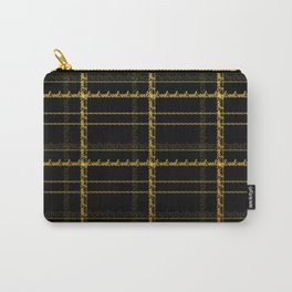 Love - A text based tartan print Carry-All Pouch