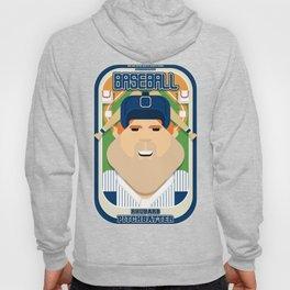 Baseball Blue Pinstripes - Rhubarb Pitchbatter - Josh version Hoody
