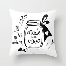 Made with love Throw Pillow