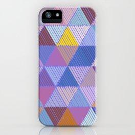Meditative Lines on Purple #Geometric #Patterns iPhone Case