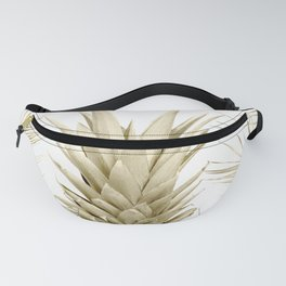 Gold Tropical Palm Pineapple Fanny Pack
