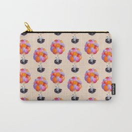 Panda flying with balloons Carry-All Pouch