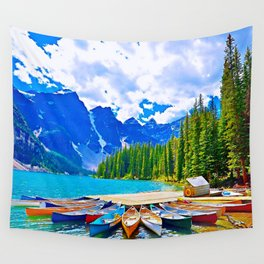 Lake in switzerland Wall Tapestry
