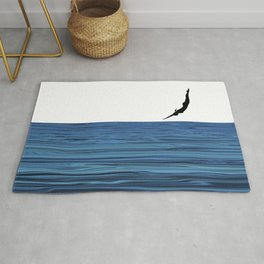 A dip in the blue Rug