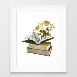 floral reading iv Framed Art Print