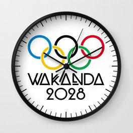 Wakanda Olympics 2028 Wall Clock