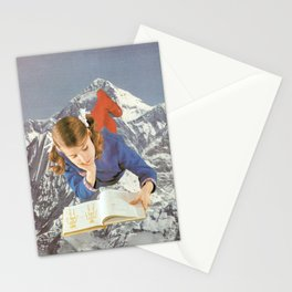Girl Reading 1 Stationery Cards