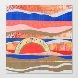 Orange and Blue Hills Canvas Print