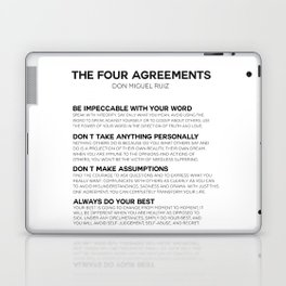 the four agreements Laptop & iPad Skin