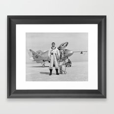 X-24A on Lakebed Framed Art Print