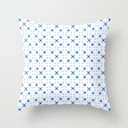 Optical pattern 74 – adapted from the Sierpinski's square Throw Pillow