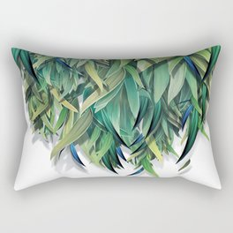 """Spring Forest of Surreal Leaf"" Rectangular Pillow"