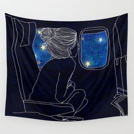 The Star and Planes Wall Tapestry