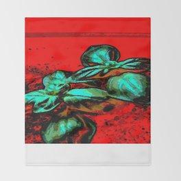 landscape red green Throw Blanket