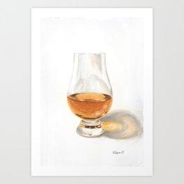 Glencairn Bourbon Glass Art Print