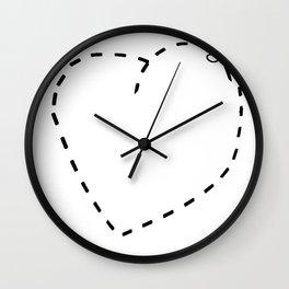 Love Heart Cute Funny Love Heart Wall Clock