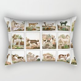 Dogs In Vintage Style Rectangular Pillow