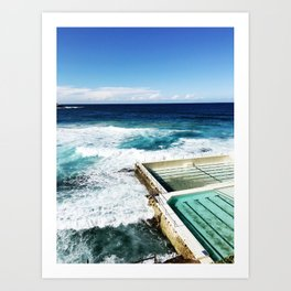 Bondi Beach Icebergs, Sydney Art Print